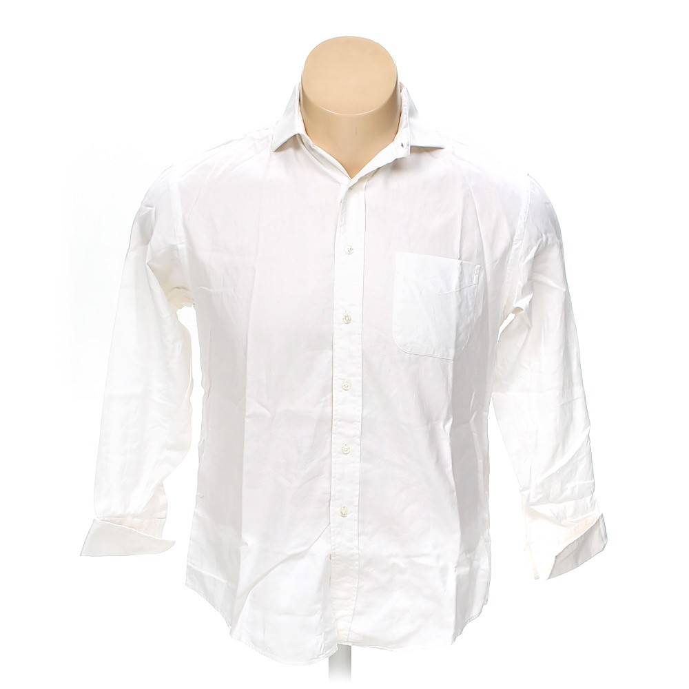white brooks brothers button up long sleeve shirt in size