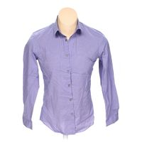 Purple calvin klein button up long sleeve shirt in size 44 for 17 33 shirt size