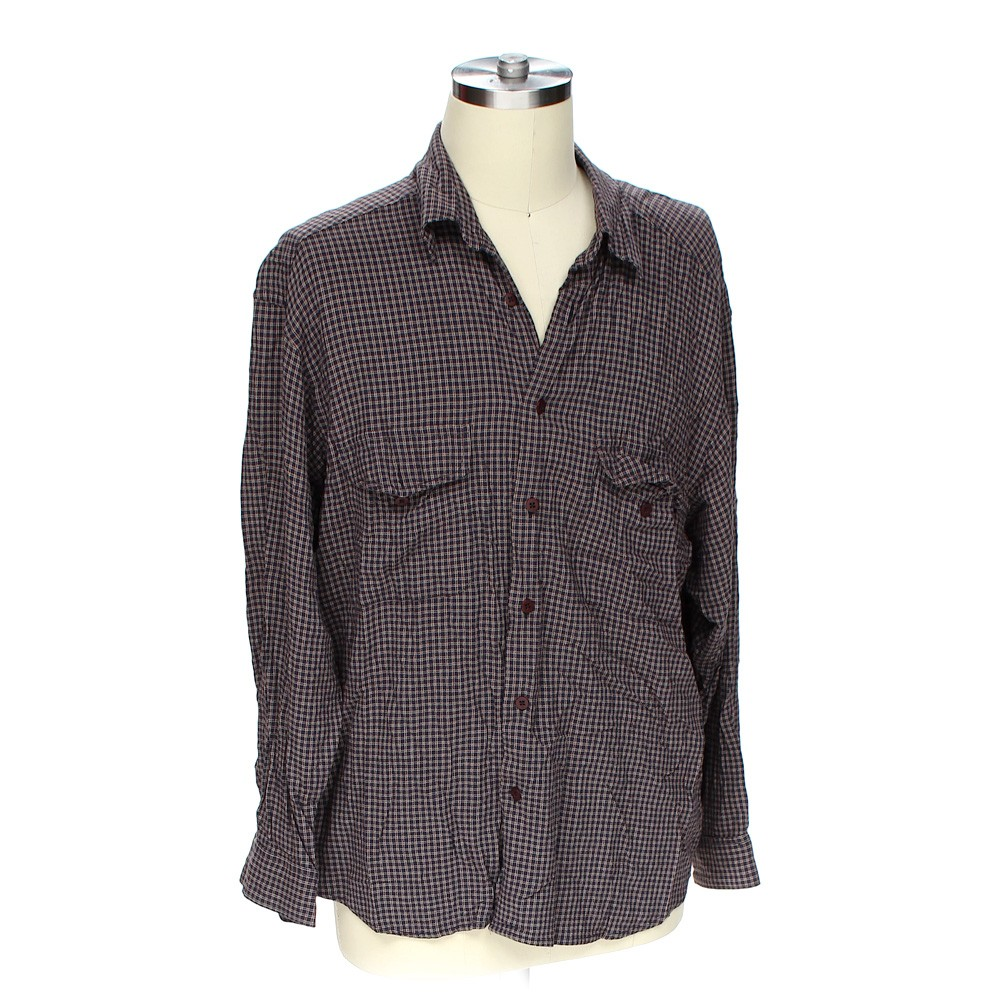 Claiborne button up long sleeve shirt in size xl at up to for 18 36 37 shirt size