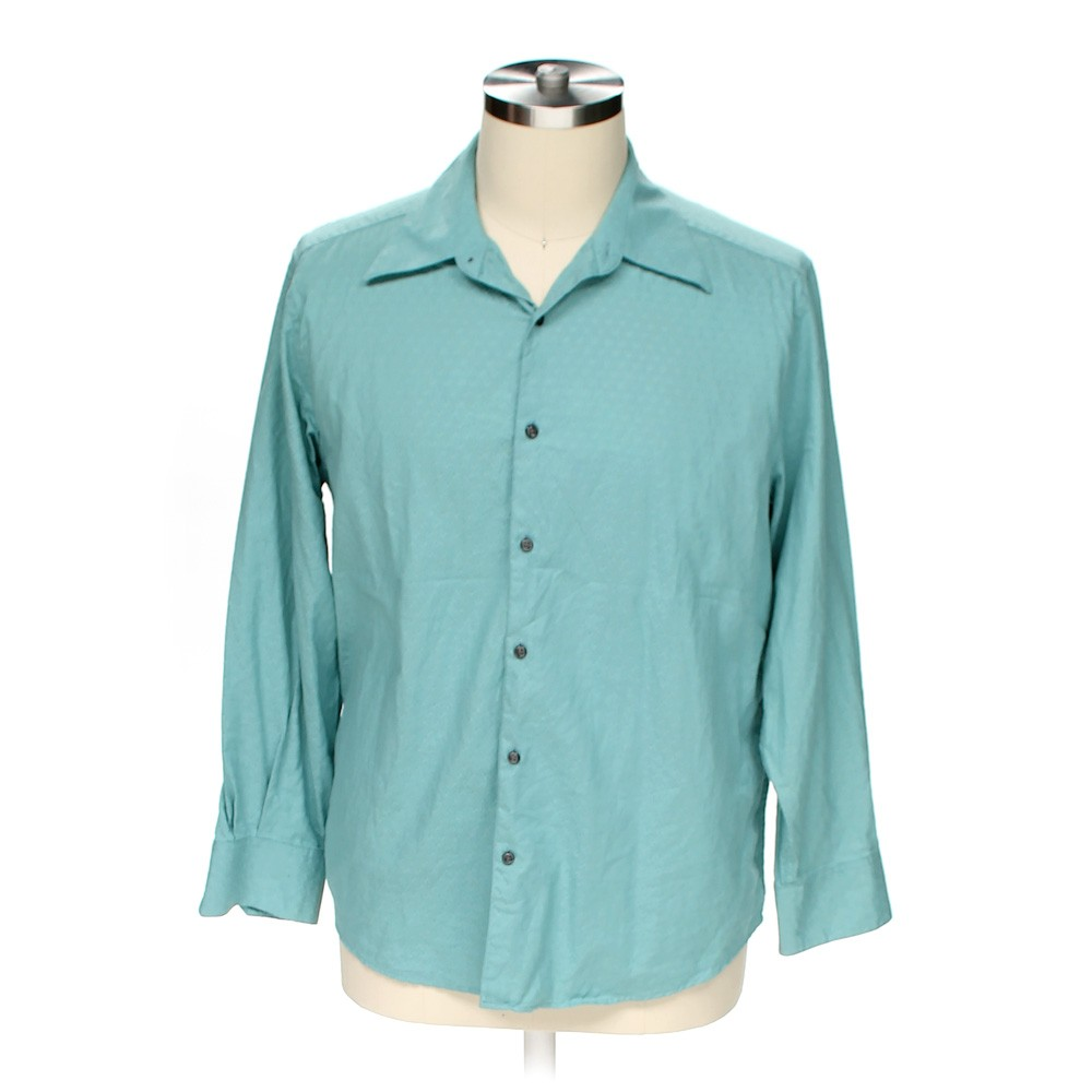 Turquoise Claiborne Button Up Long Sleeve Shirt In Size Xl
