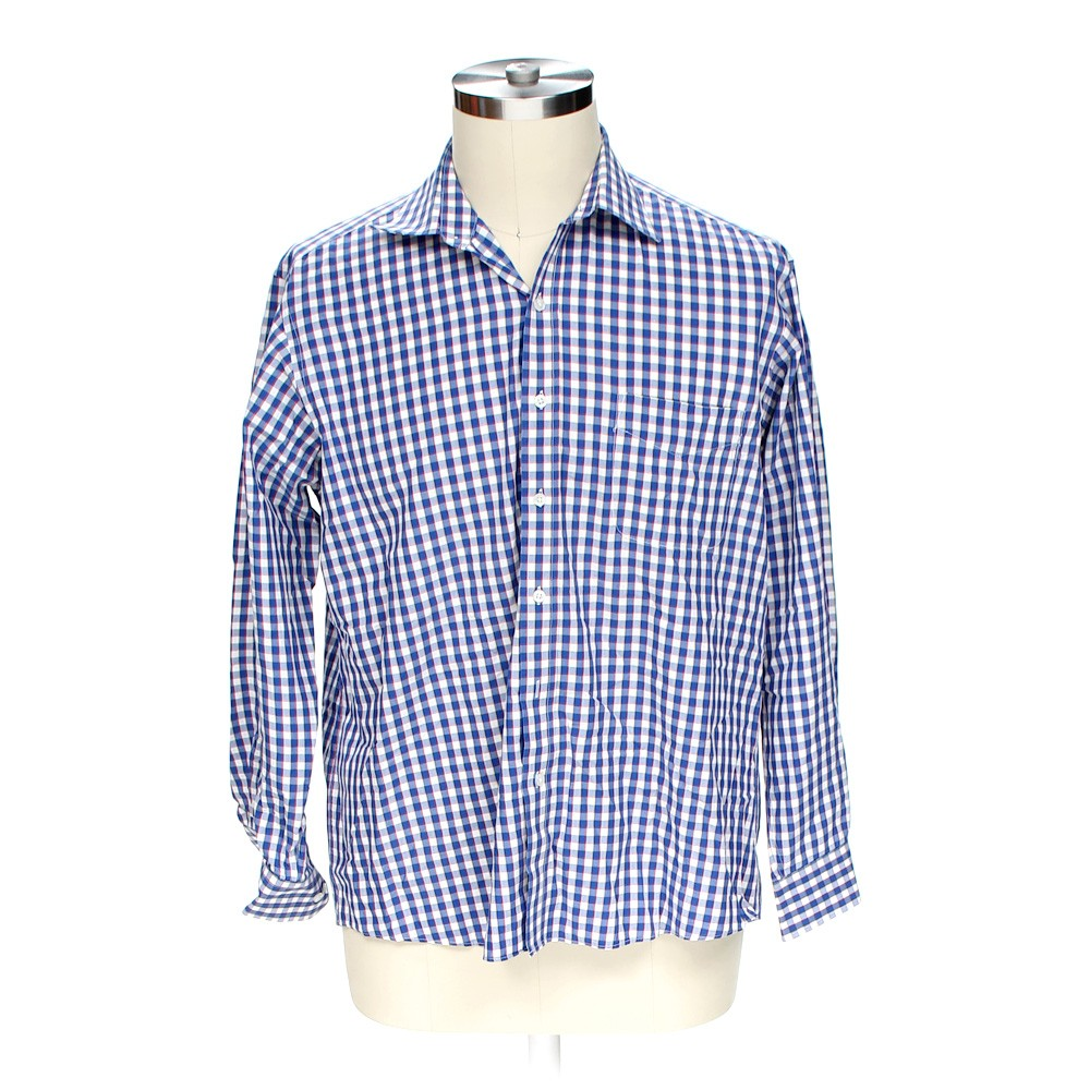 Multi Colored Club Room Button Up Long Sleeve Shirt In