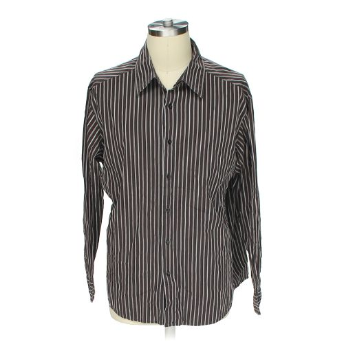 Brown concept clothing button up long sleeve shirt in size for 18 36 37 shirt size