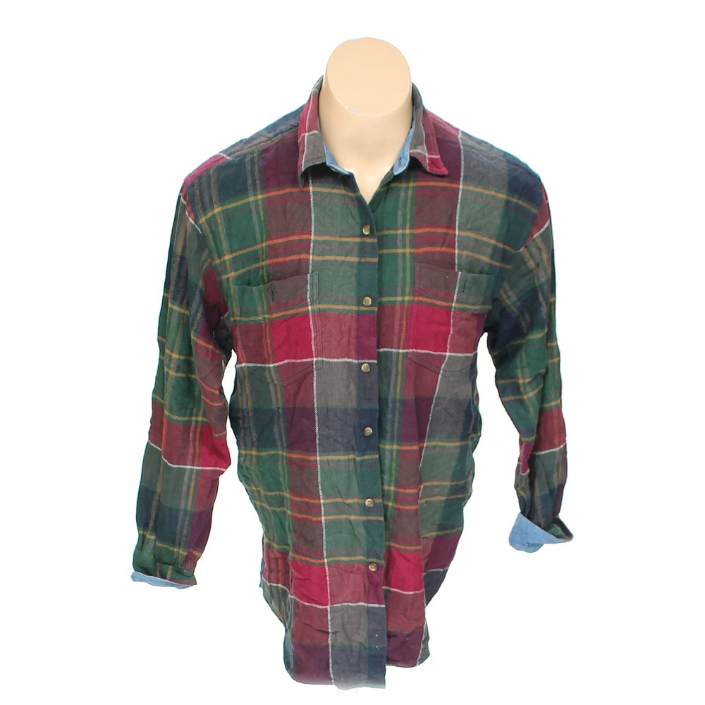 Multi Colored Country Seat Button Up Long Sleeve Shirt In