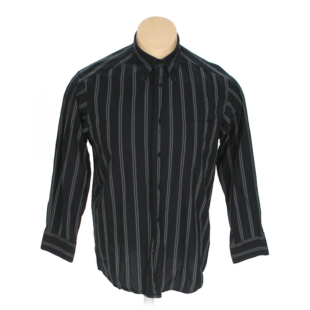 Black crazy horse button up long sleeve shirt in size xl for 17 33 shirt size