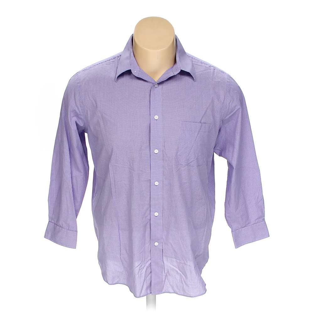 Purple croft barrow button up long sleeve shirt in size for 17 33 shirt size