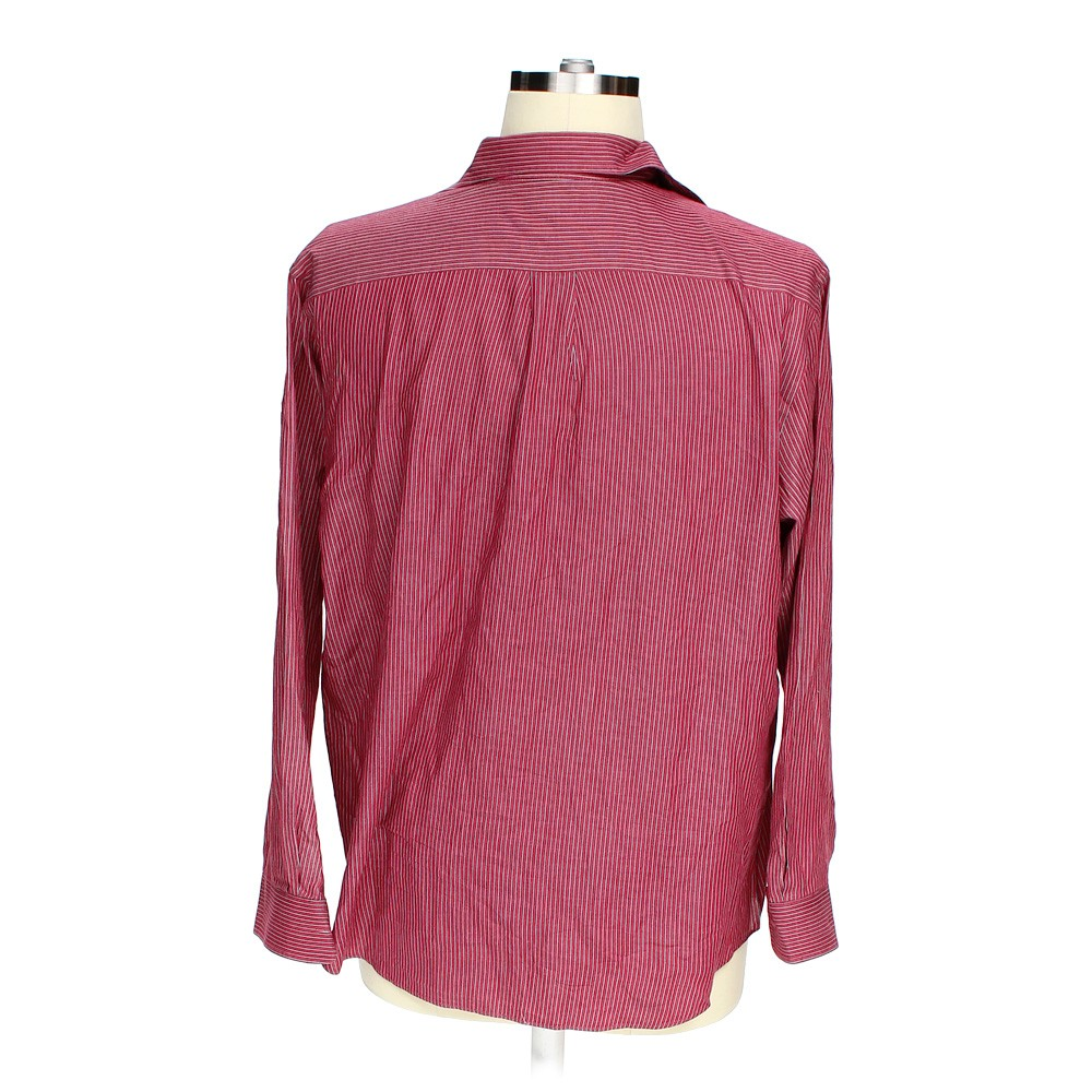 Maroon croft barrow button up long sleeve shirt in size for Croft and barrow womens polo shirts