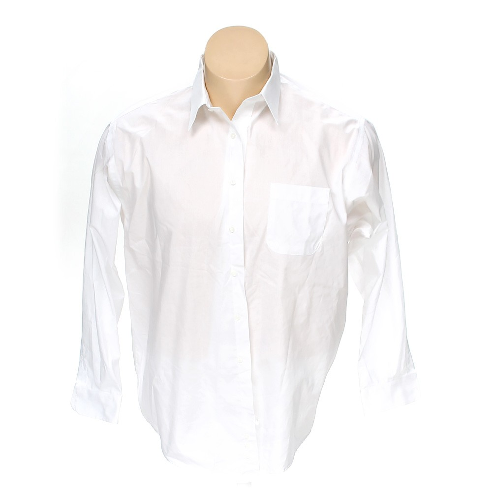 White croft barrow button up long sleeve shirt in size for 18 36 37 shirt size