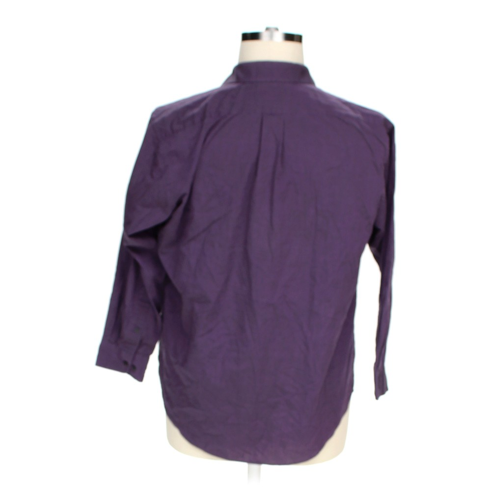 Purple croft barrow button up long sleeve shirt in size for Croft and barrow womens polo shirts