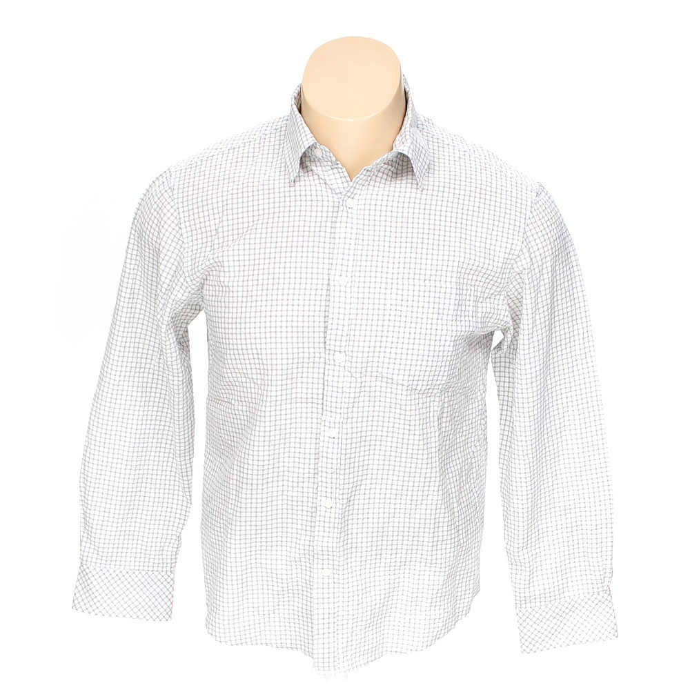 Detailed Button Up Long Sleeve Shirt Size Xl White