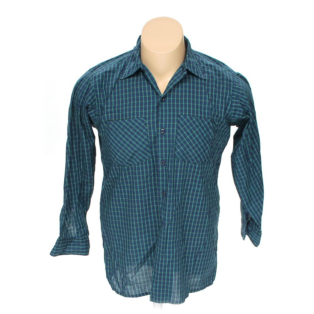 Blue navy dickies button up long sleeve shirt in size 50 for Dickies big tex shirt