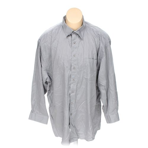 Grey dillards button up long sleeve shirt in size 36 for 18 36 37 shirt size