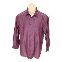 Purple dkny button up long sleeve shirt in size xl at up for 17 33 shirt size