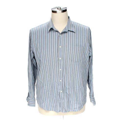 Grey Dockers Button Up Long Sleeve Shirt In Size 2xl At Up