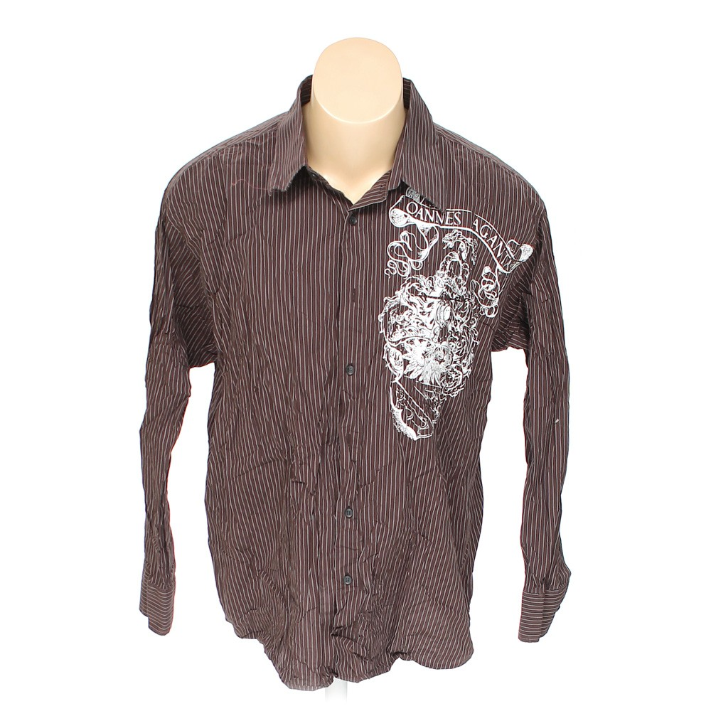 Eighth avenue button up long sleeve shirt in size 2xl at for 18 36 37 shirt size