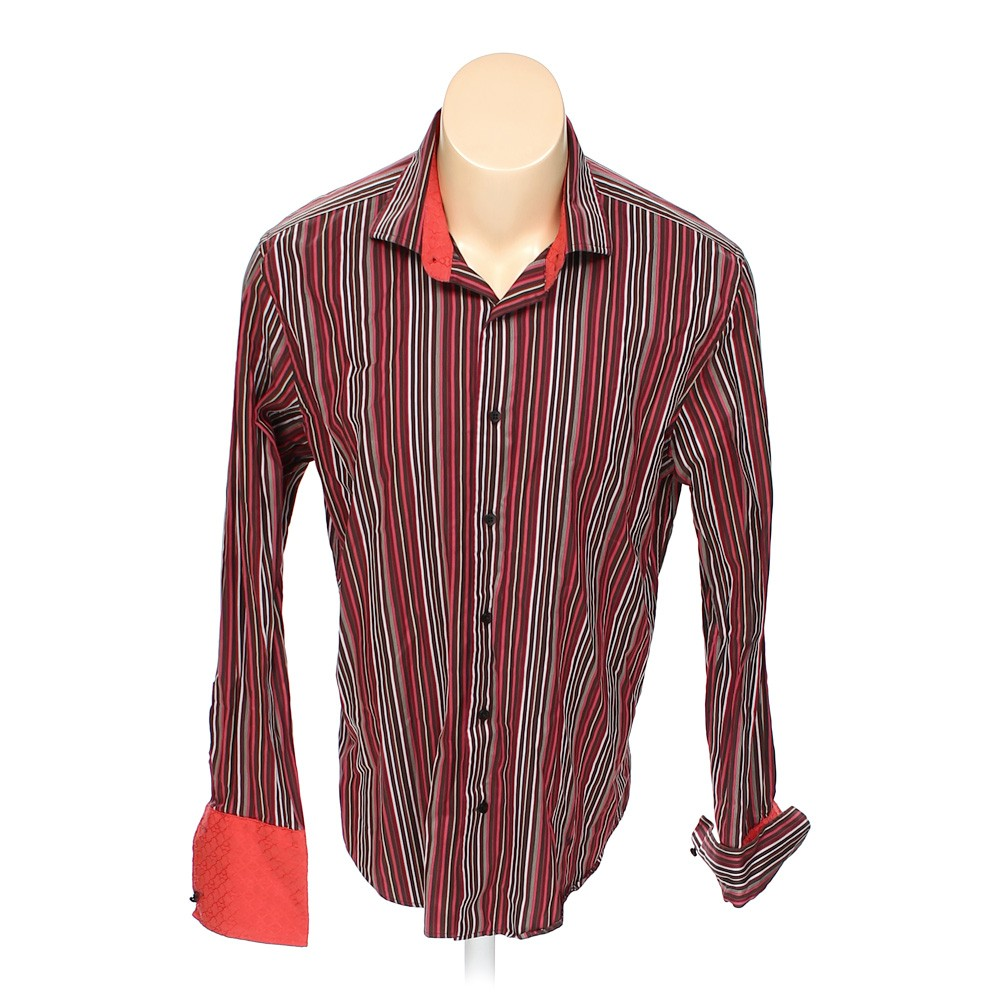 Multi Colored Express Button Up Long Sleeve Shirt In Size