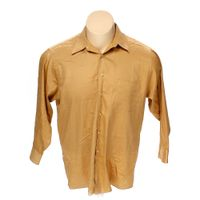 Brown geoffrey beene button up long sleeve shirt in size for 17 33 shirt size