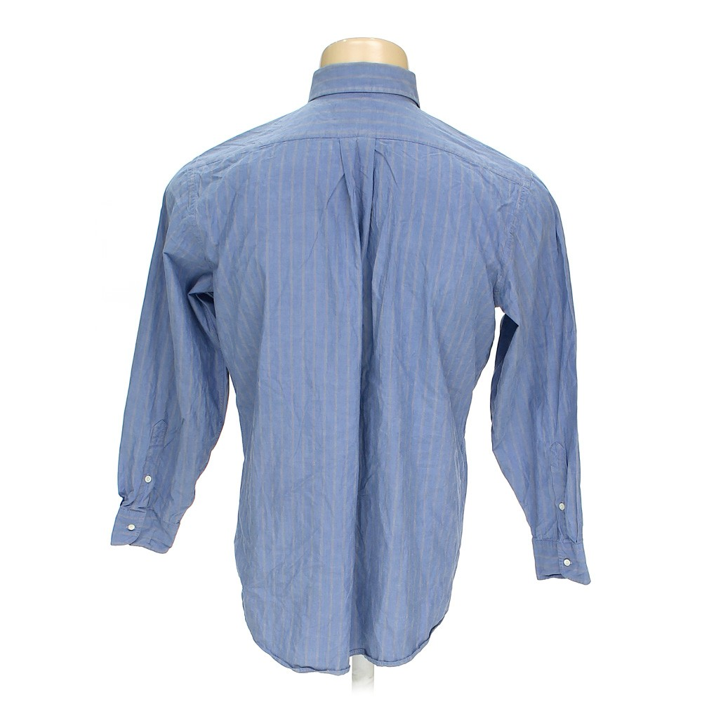 Blue navy jos a bank button up long sleeve shirt in size for 17 33 shirt size