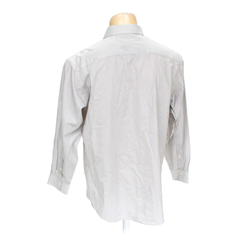 Grey jos a bank button up long sleeve shirt in size 34 for 17 33 shirt size