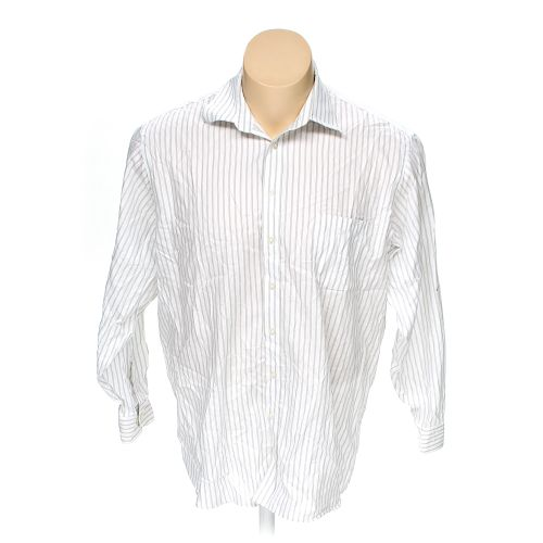 White Joseph Abboud Button Up Long Sleeve Shirt In Size 50