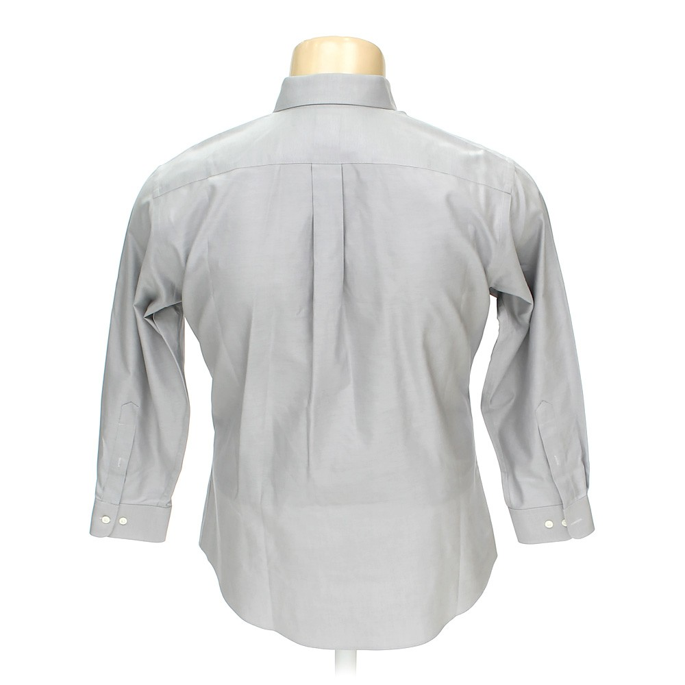 Grey joseph feiss button up long sleeve shirt in size 50 for 17 33 shirt size