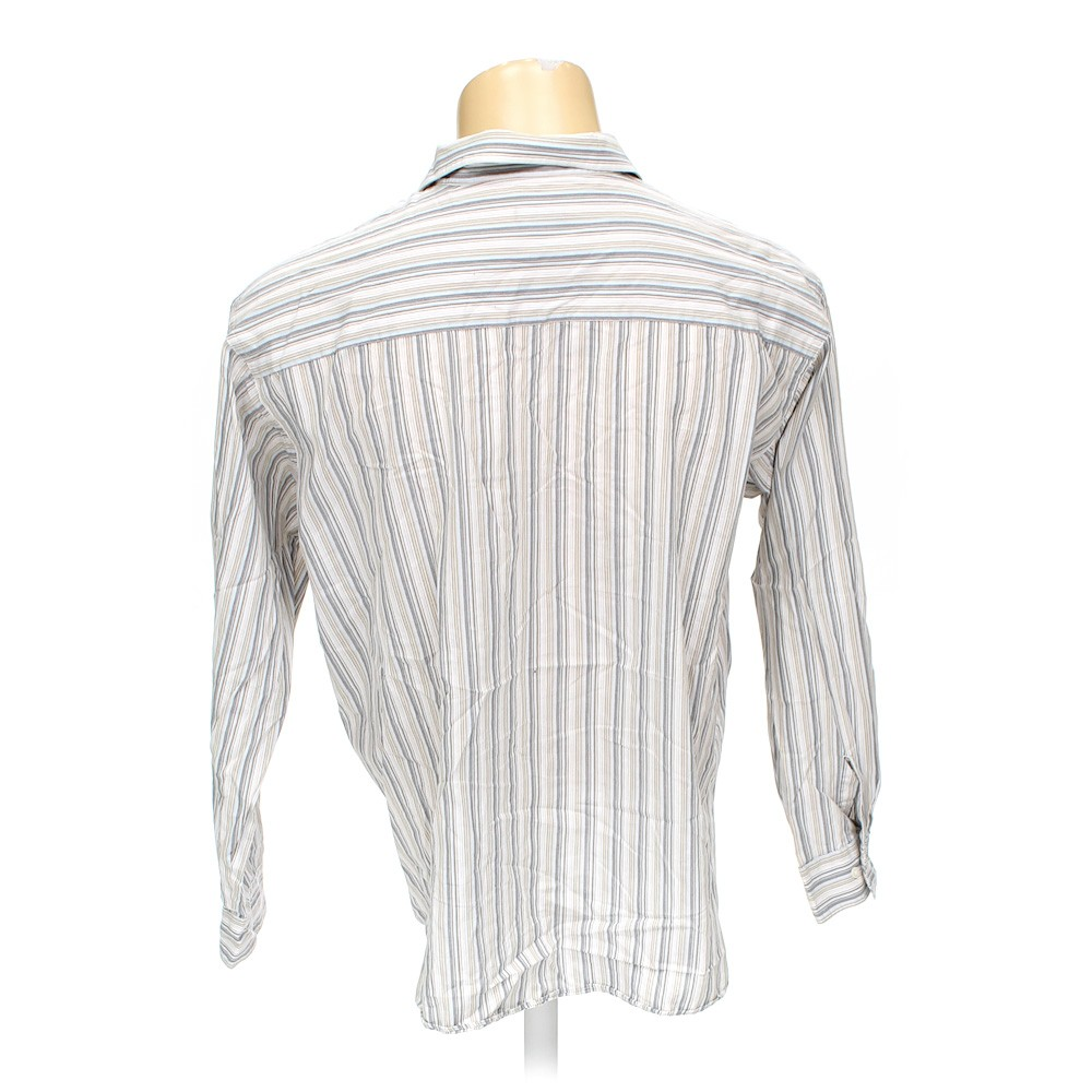 Kenneth cole reaction button up long sleeve shirt in size for 18 36 37 shirt size
