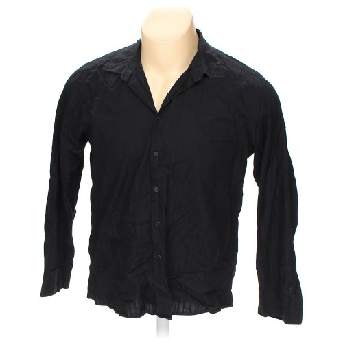 Black Kenneth Cole Reaction Button Up Long Sleeve Shirt In