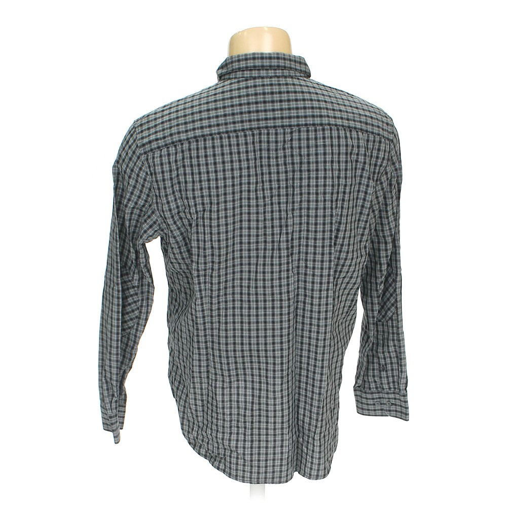Grey Kenneth Cole Reaction Button Up Long Sleeve Shirt In