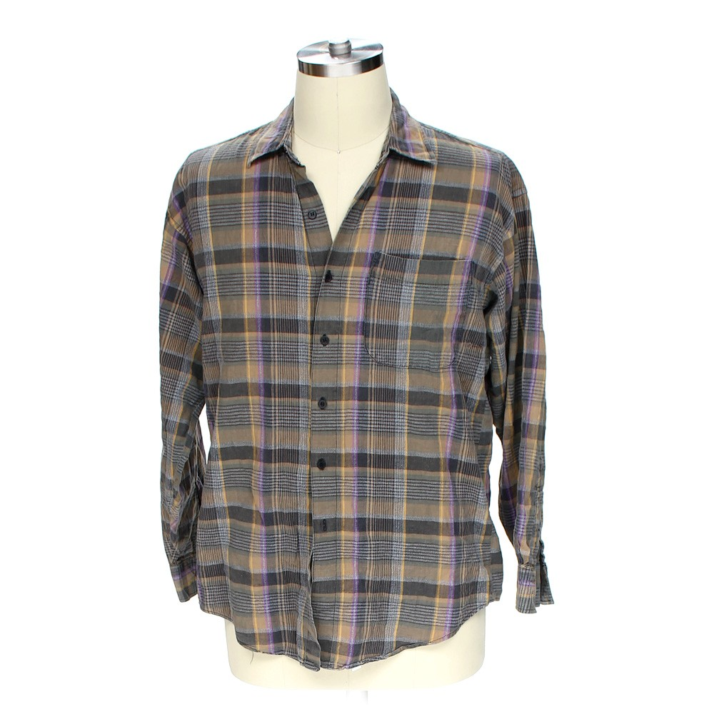 Multi Colored Loafers Button Up Long Sleeve Shirt In Size