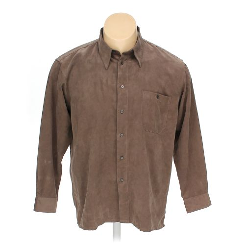 Brown marc edwards button up long sleeve shirt in size xxl for 17 33 shirt size