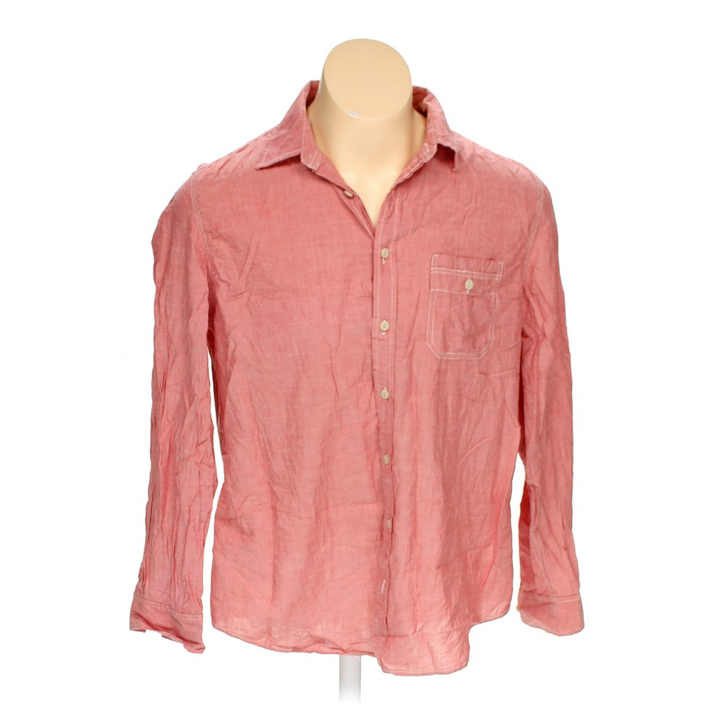 Red mossimo supply co button up long sleeve shirt in size for 18 36 37 shirt size