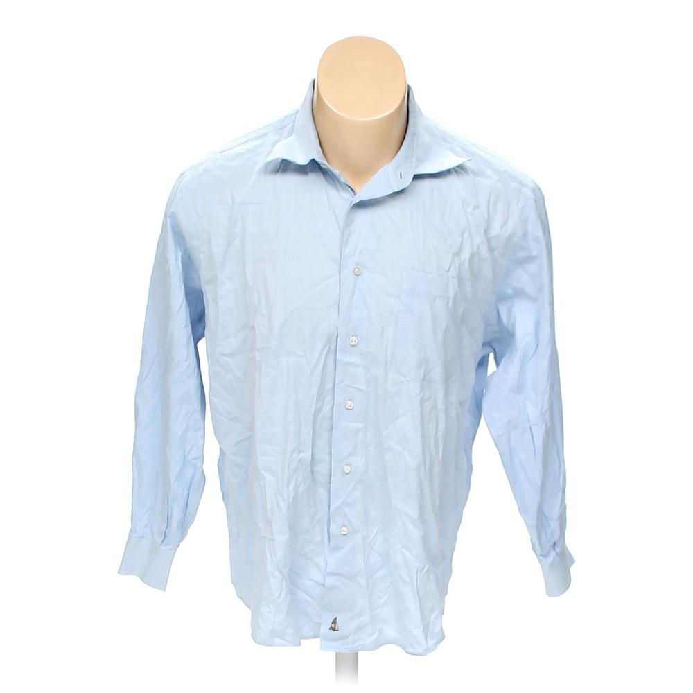 Light blue nordstrom button up long sleeve shirt in size for 17 33 shirt size