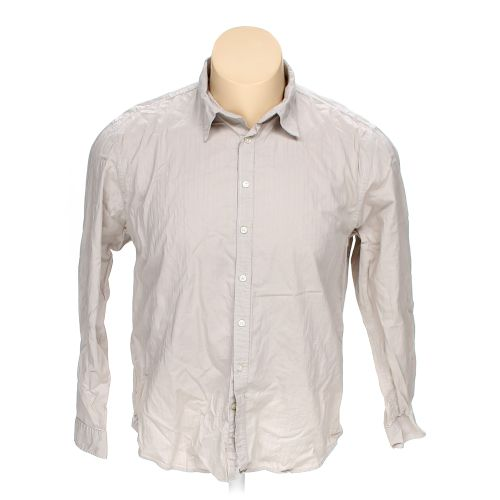 Beige old navy button up long sleeve shirt in size 2xl at for 17 33 shirt size