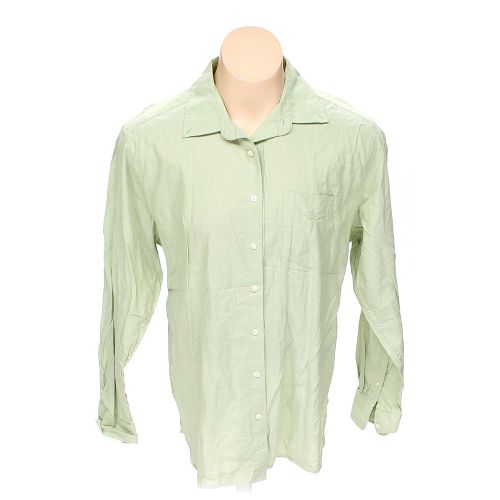 Green Old Navy Button Up Long Sleeve Shirt In Size Xl At