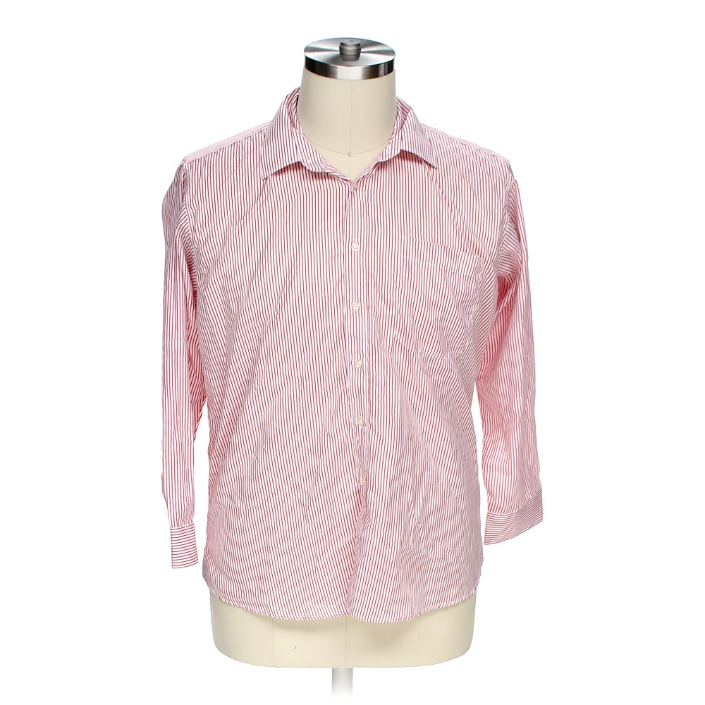 Red pacewear button up long sleeve shirt in size 50 chest for 17 33 shirt size