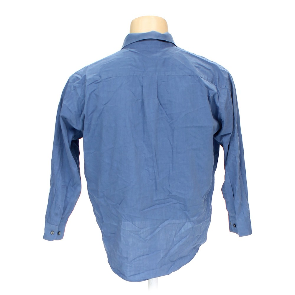 Blue navy perry ellis button up long sleeve shirt in size for 17 33 shirt size