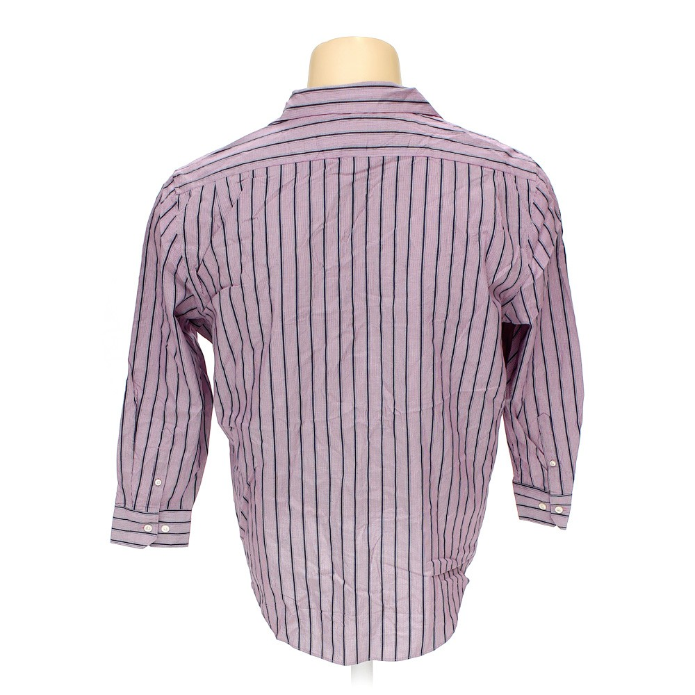 Perry ellis portfolio button up long sleeve shirt in size for 17 33 shirt size