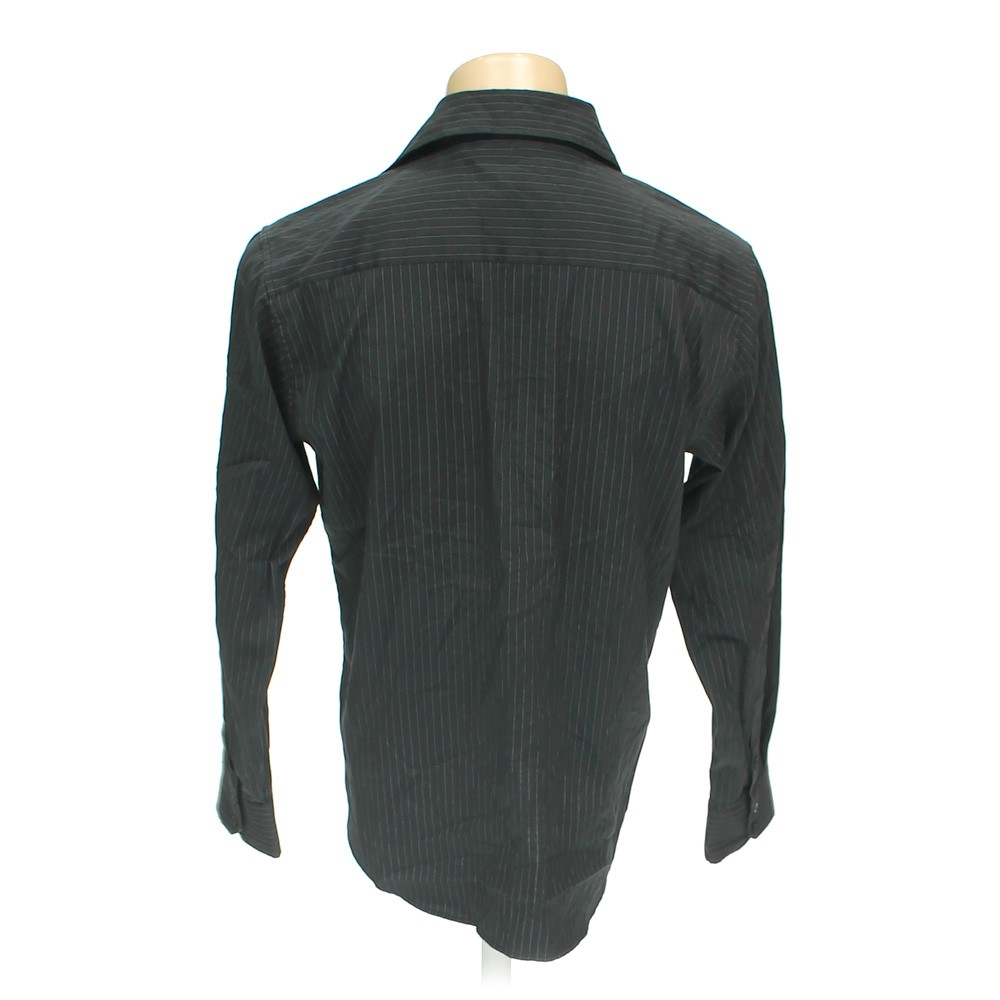Black Red Level Nine Button Up Long Sleeve Shirt In Size