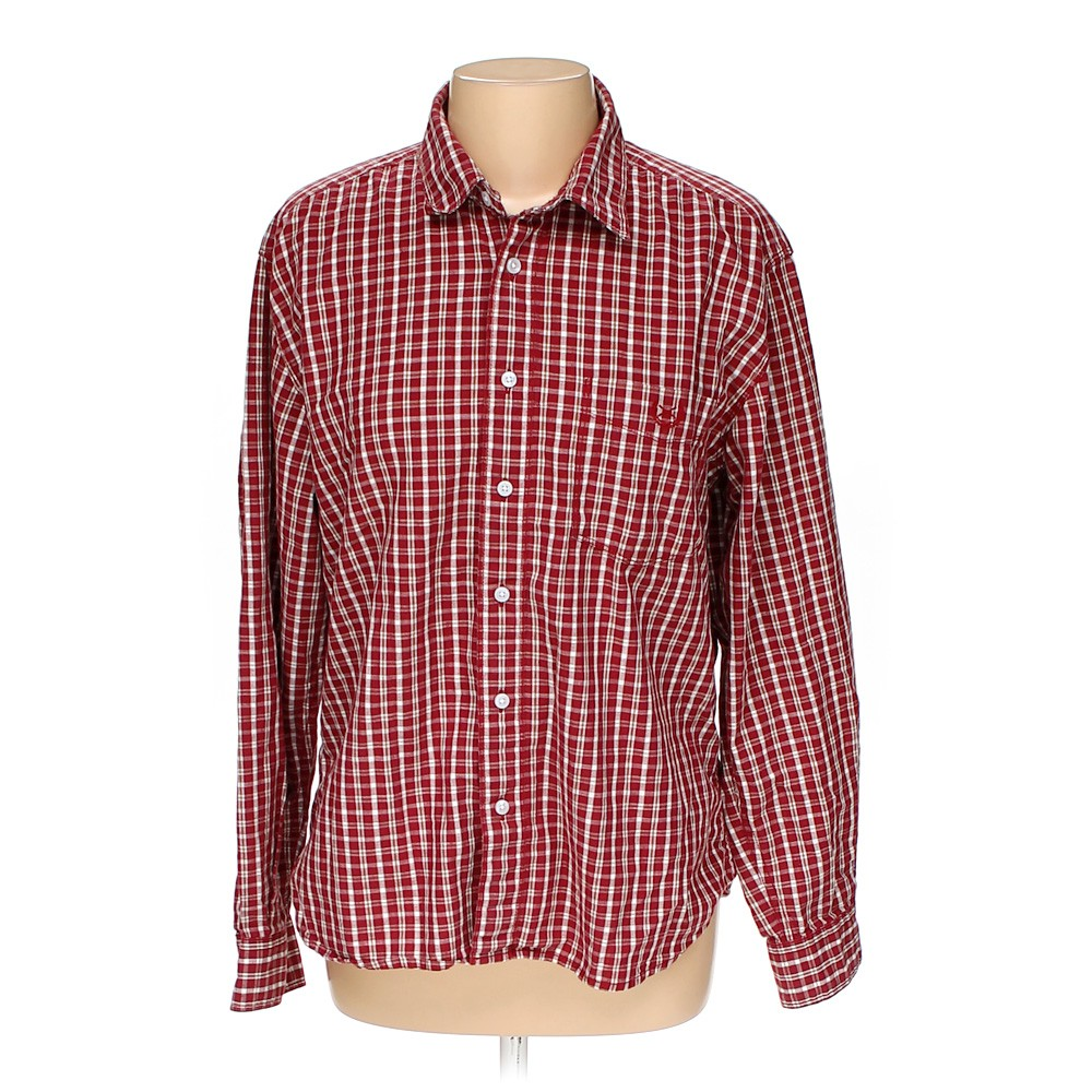 Scullers button up long sleeve shirt in size 42 chest at for 17 33 shirt size