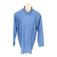 Light blue stafford button up long sleeve shirt in size for 18 36 37 shirt size