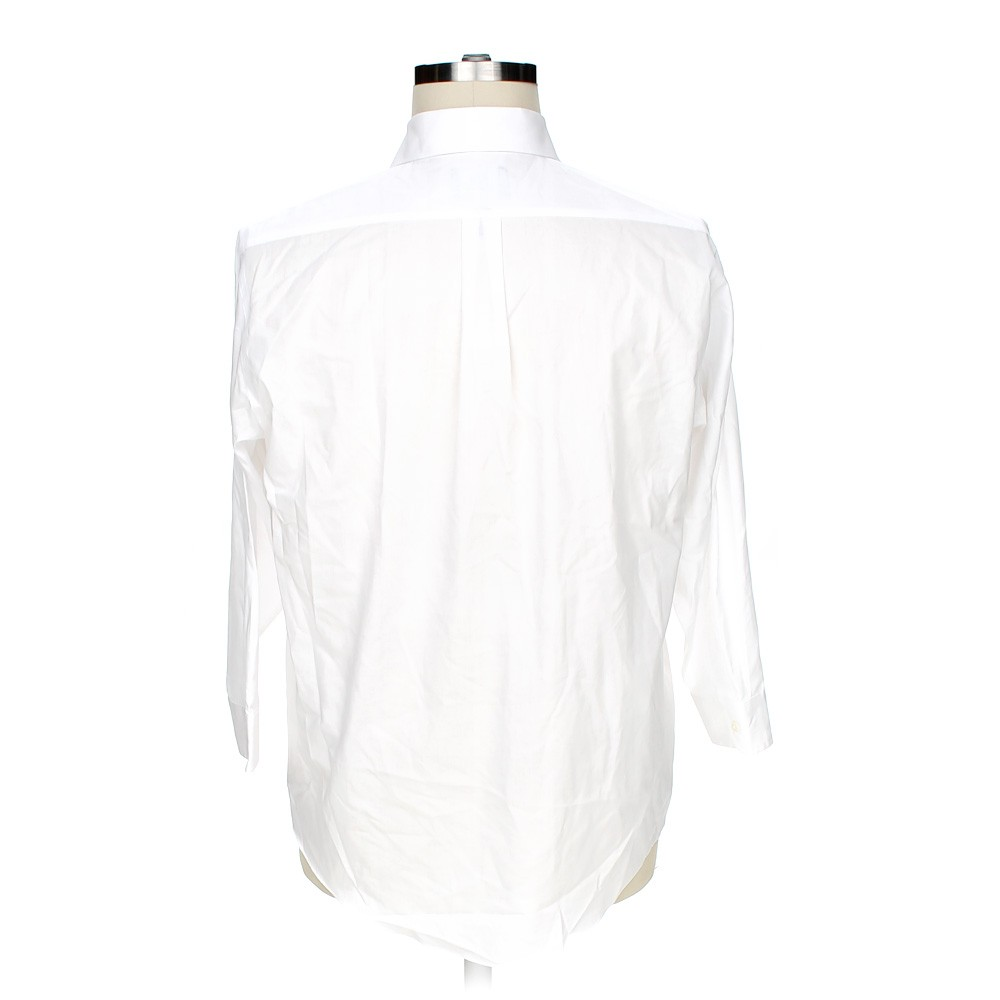White stafford button up long sleeve shirt in size 50 for Stafford t shirts big and tall