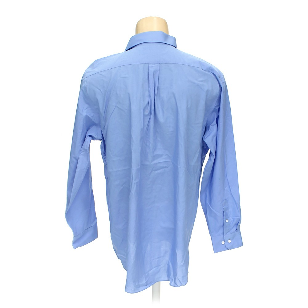 Light blue stafford button up long sleeve shirt in size 50 for 18 36 37 shirt size