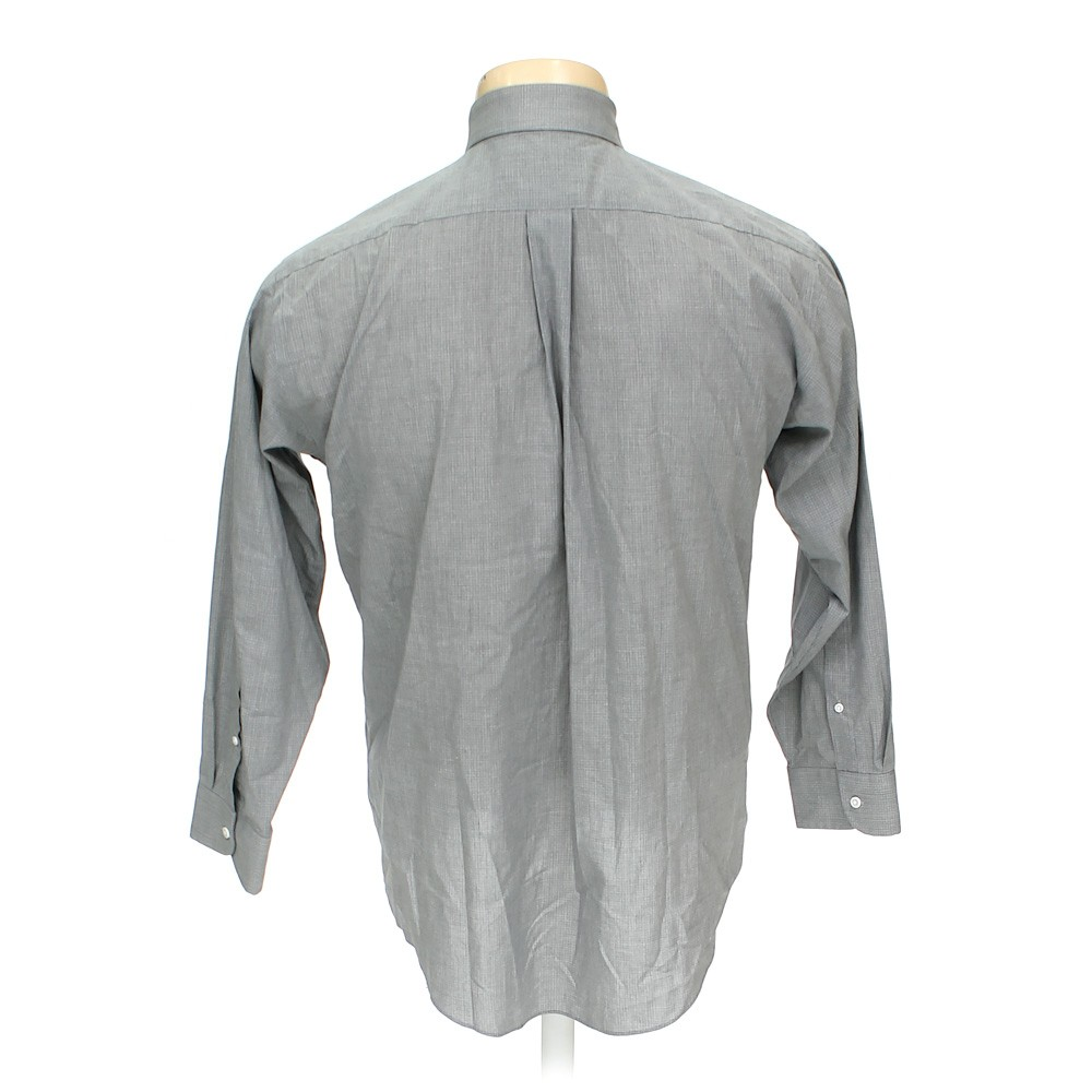 Grey stafford button up long sleeve shirt in size 52 for 17 33 shirt size