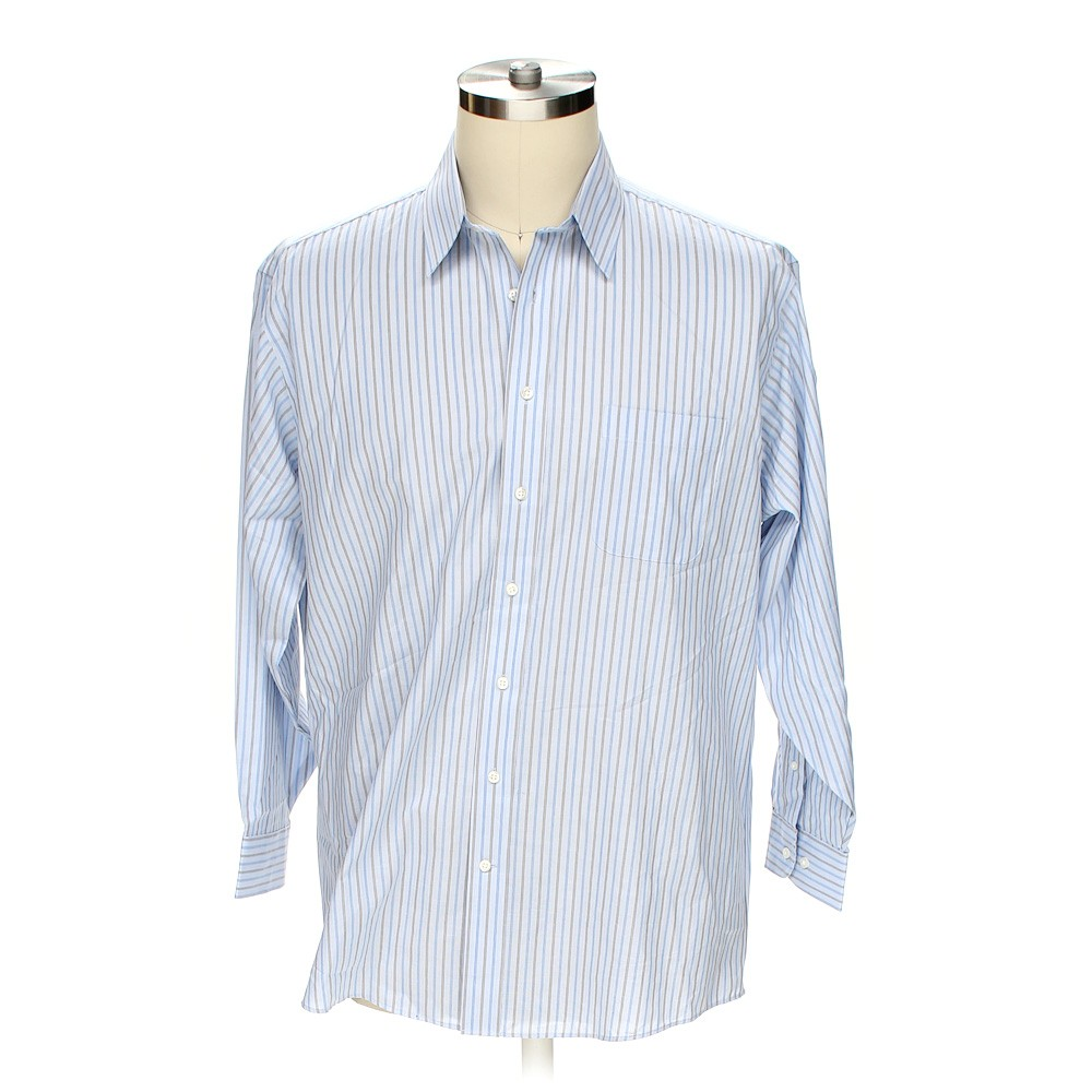 Light blue stafford button up long sleeve shirt in size 54 for Stafford t shirts big and tall