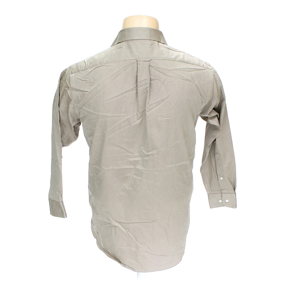 Beige stafford button up long sleeve shirt in size 56 for Stafford t shirts big and tall