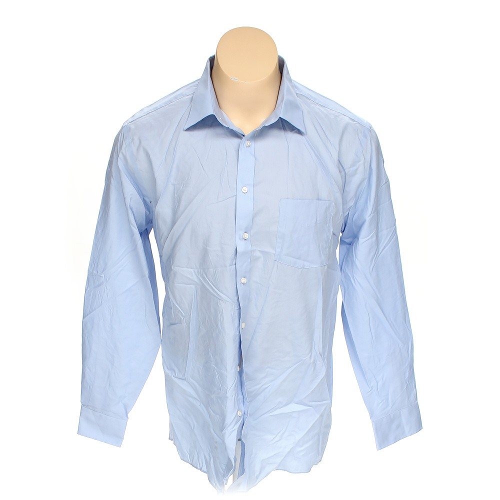 Light blue stafford button up long sleeve shirt in size xl for 18 36 37 shirt size