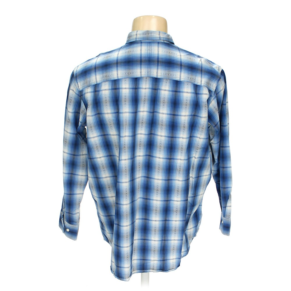 The foundry button up long sleeve shirt in size 2xl at up for Foundry men s polo shirts