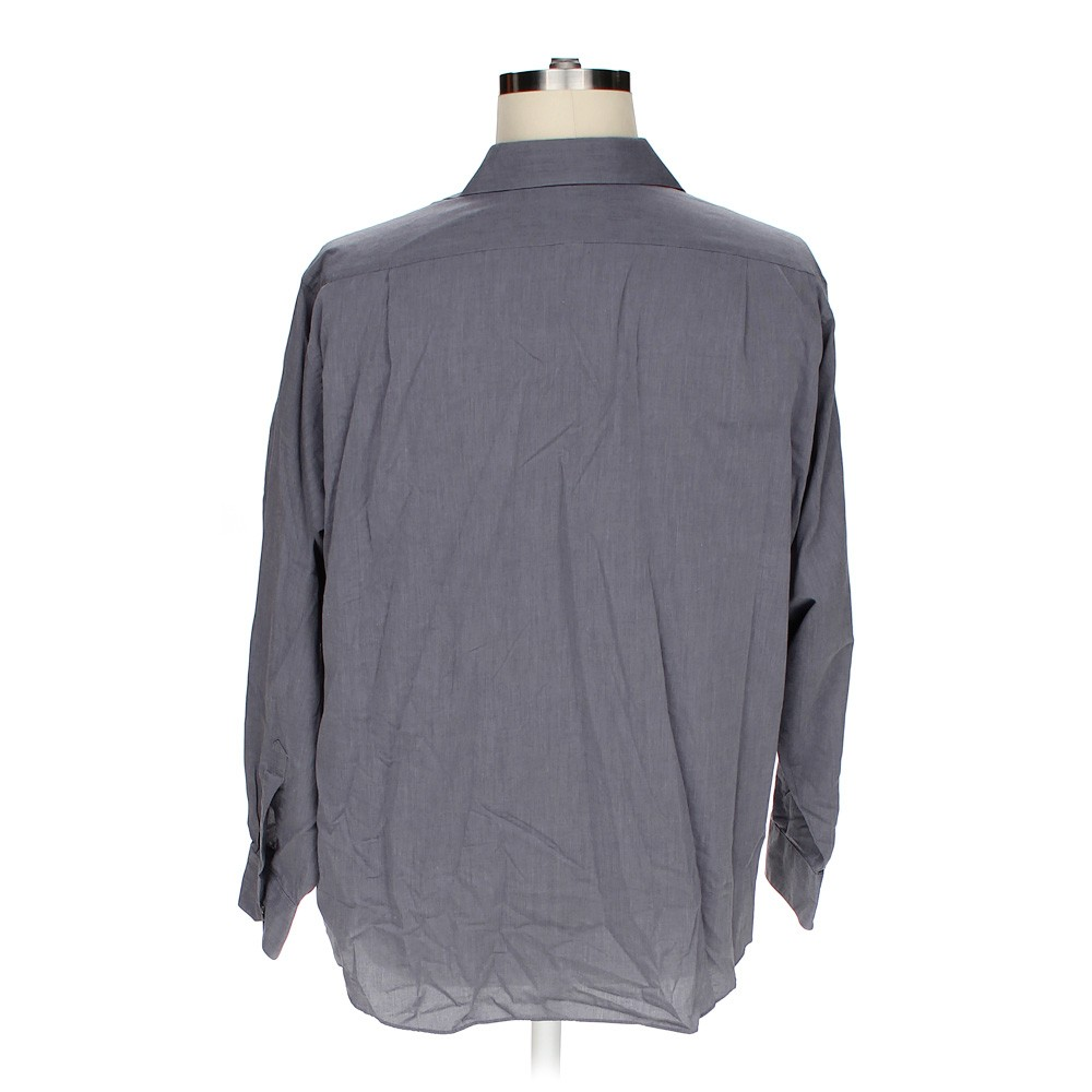 Grey van heusen button up long sleeve shirt in size 2xl at for 18 36 37 shirt size