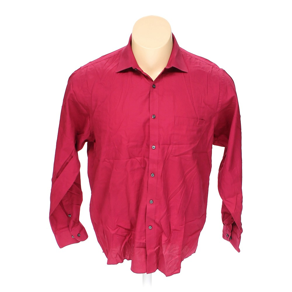 Maroon van heusen button up long sleeve shirt in size 50 for 18 36 37 shirt size