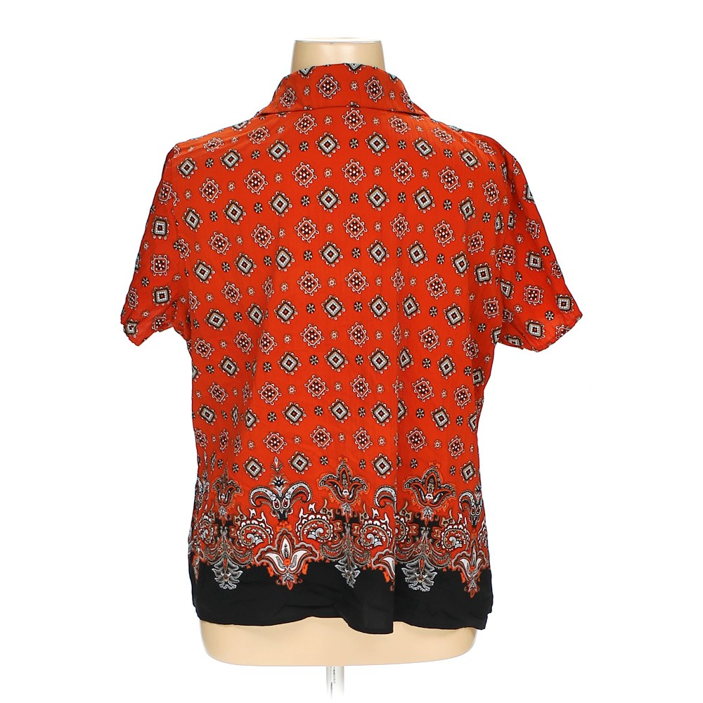 Apt 9 button up shirt in size xl at up to 95 off for Polyester button up shirt