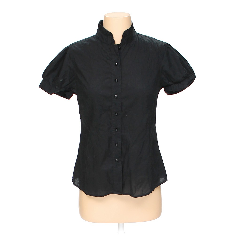 Black banana republic button up shirt in size s at up to for Cotton button up shirt